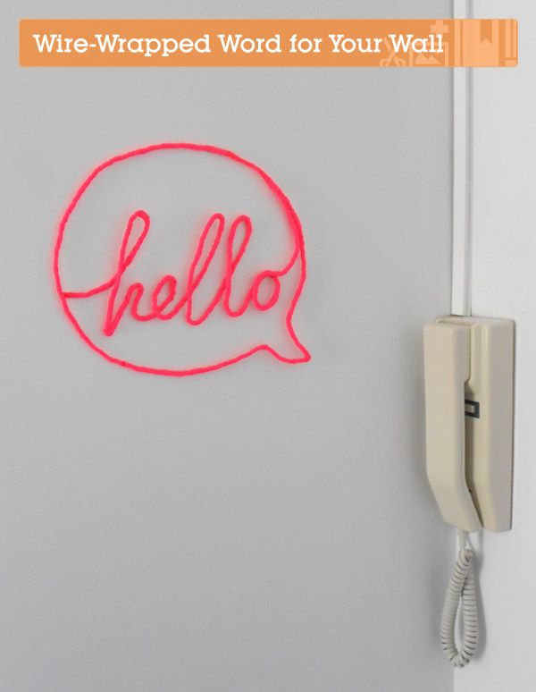 Make a Wire-Wrapped Word for your Wall | Crafttuts+ (via design love fest)
