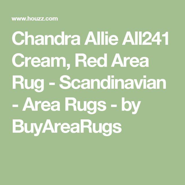 Chandra Allie All241 Cream, Red Area Rug - Scandinavian - Area Rugs - by BuyAreaRugs