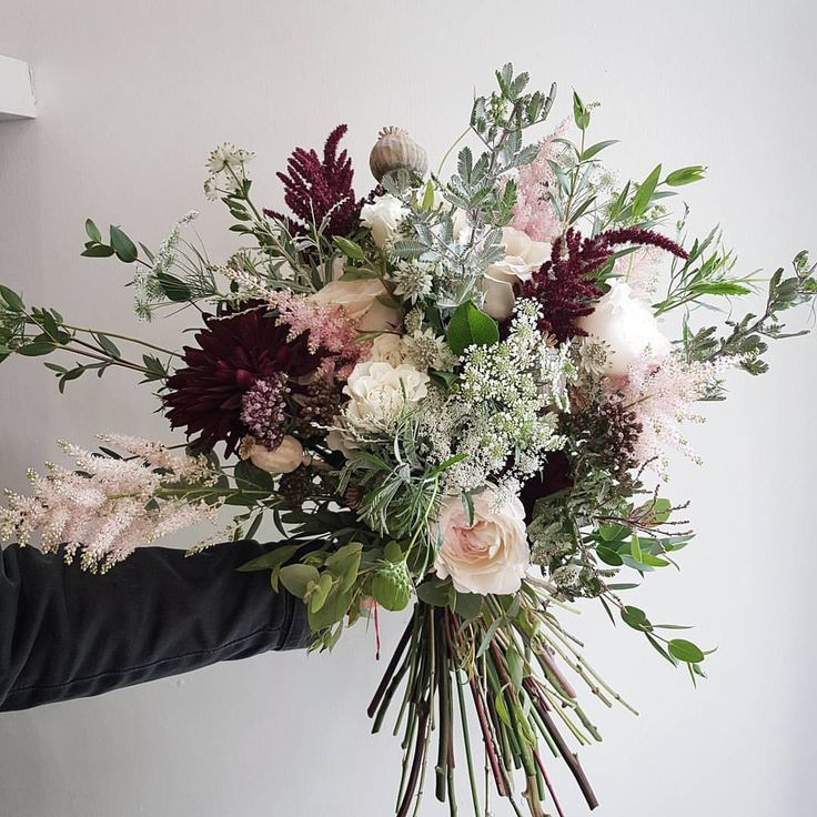 "605 Likes, 4 Comments - THE FRESH FLOWER COMPANY  (@thefreshflowercompany) on Instagram: ""The bridal bouquet from this weekends wedding - parchment coloured quicksand roses with burgundy…"""