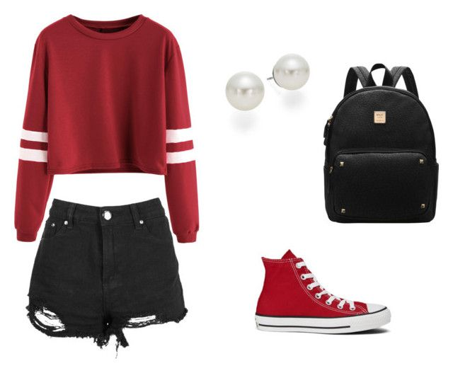 """Teen Wolf Amelia - Perishable"" by jemjem21 on Polyvore featuring Boohoo, Converse and AK Anne Klein"