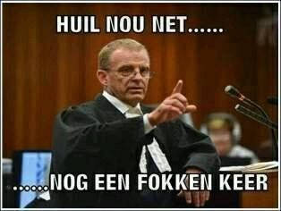 "Gerrie Nel on Oscar: ""Just u cry one more fucking time"" #oscartrial"