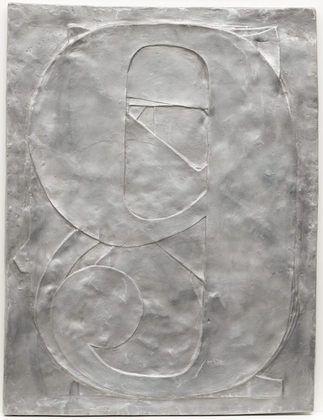 "Jasper Johns, 0 through 9, 1961 (cast 1966). Aluminum, 26 x 197/8 x 7/8"" (66 x 50.2 x 2.2cm) (irregular), New York, MOMA"
