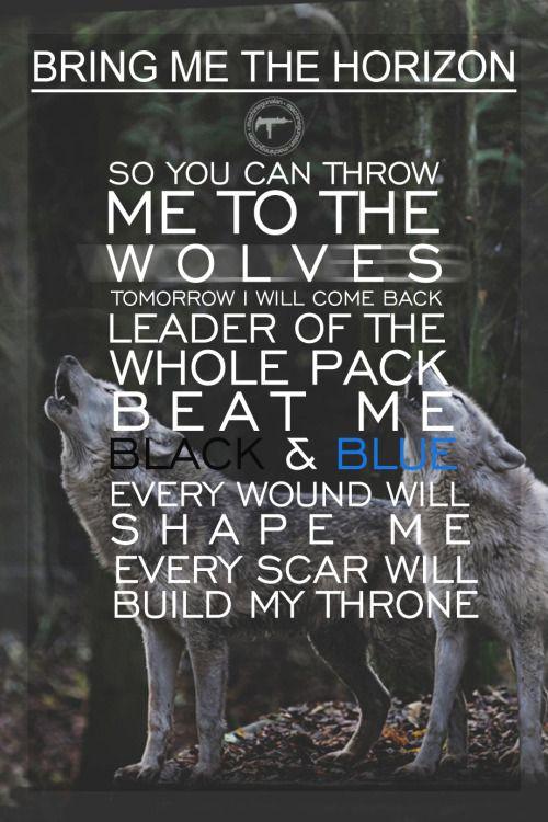Bring me the horizon throne lyrics music videos pinterest