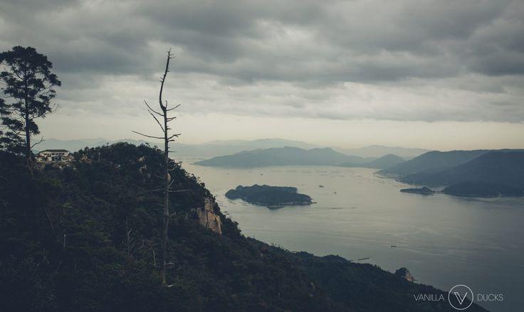 Vue depuis le mont misen, à Miyajima, Japon. Landscape from Miyajima