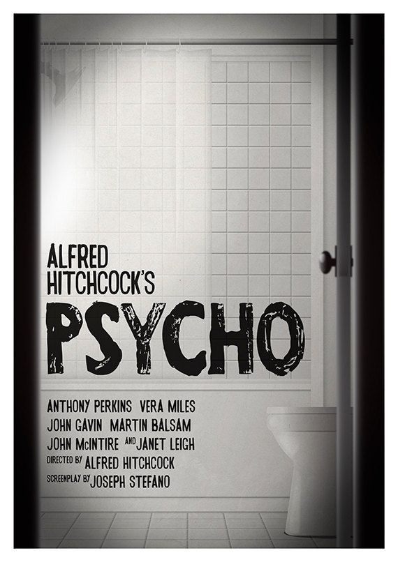 Movie poster Hitchcock's 'Psycho' Limited edition by Kinographics
