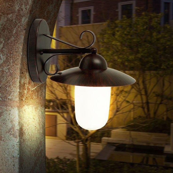 LED 9 Watt Außen Lampe Landhaus Stil Wand Beleuchtung Energie Spar Leuchte IP44 in Heimwerker, Lampen & Licht, Außenleuchten | eBay!
