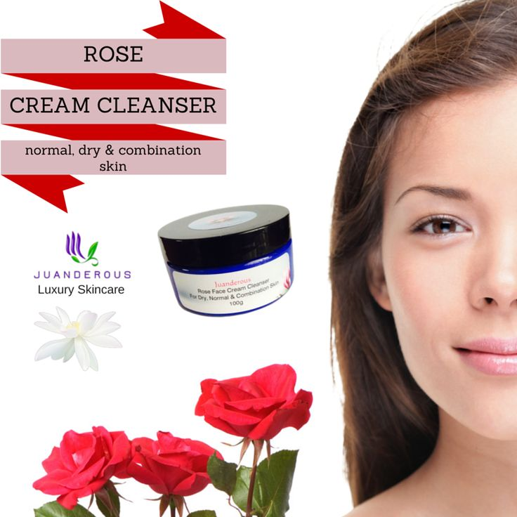 Rose Cream Face Cleanser - Dry, Normal to Combination Skin 100g - Vegan Product. $22.50 This cleanser is designed to leave your face clean, fresh and glowing; it contains no soap by-products which normally causes a drying and irritating sensation after use. Our wonderful cleanser has a deep pore cleansing action that is gentle enough for use on the delicate eye area. All make up, dirt and grime is removed easily, and bacteria that can lead to skin breakouts are cleaned away.