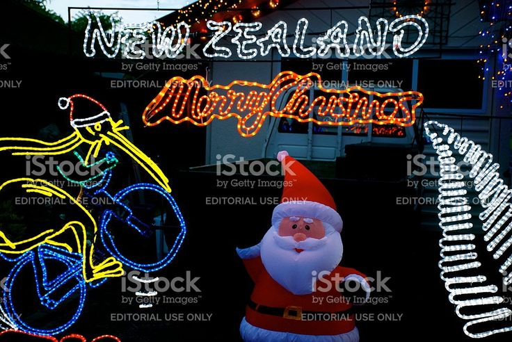 Christmas Lights, New Zealand royalty-free stock photo