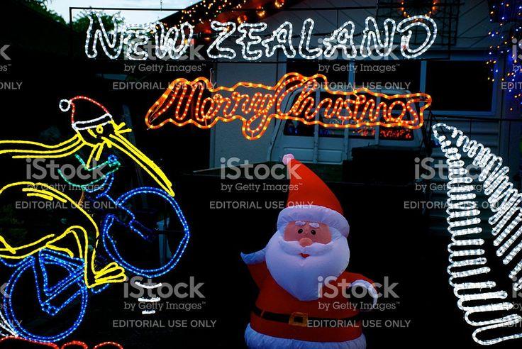 Christmas Lights, New Zealand royalty-free stock photo
