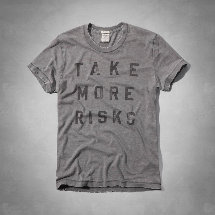 Mens Stony Creek Tee | Mens Graphic Tees | eu.Abercrombie.com, Take more Risks, Tshirt, Design, Graphic, Type, Typography