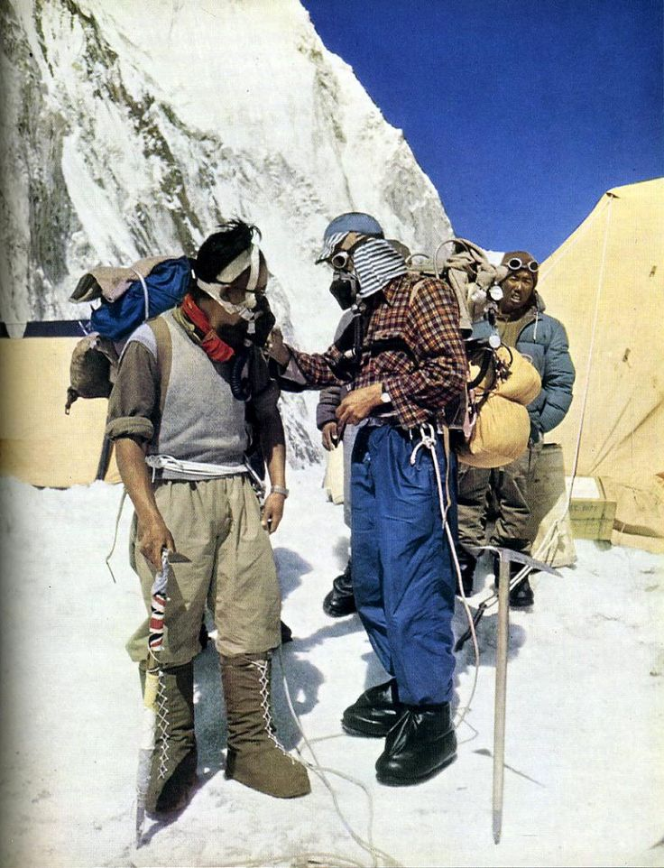Tenzing Norgay And Edmund Hillary Prepare To Leave For Everest Summit