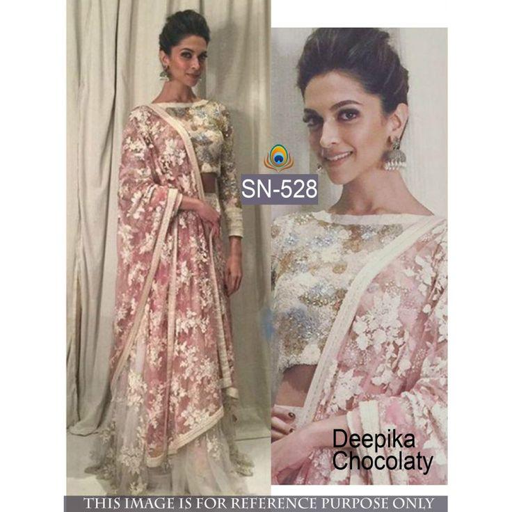 Dipika Chokaleti Multi Work Net Semi-stitched Lehenga Choli at just Rs.2760/- on www.vendorvilla.com. Cash on Delivery, Easy Returns, Lowest Price.