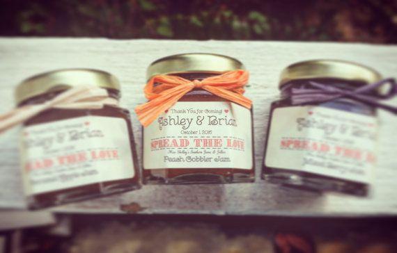 Mmmm...mini jams wedding favors. https://www.etsy.com/listing/232533123/rustic-jam-wedding-favors-rustic-favors