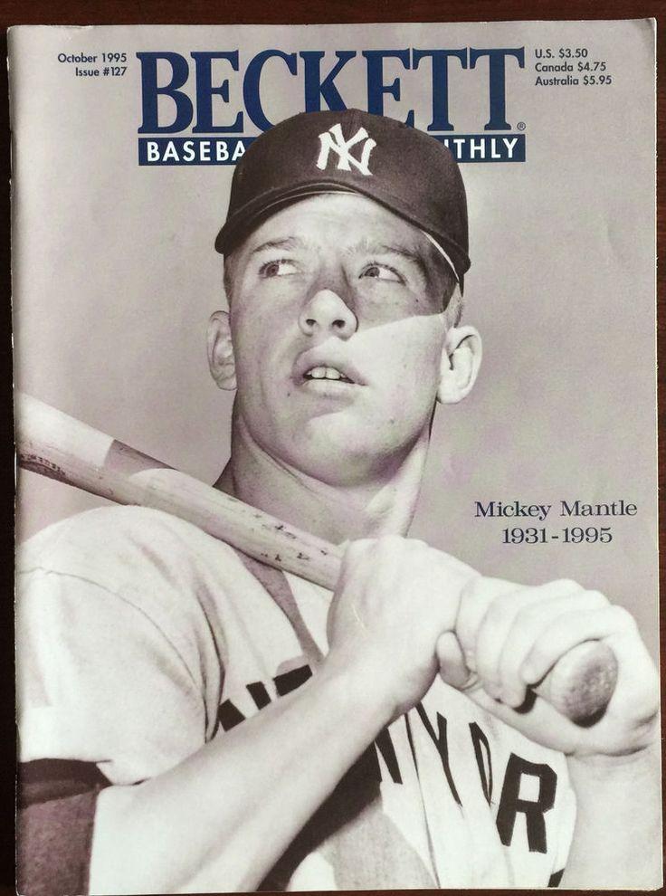 mickey mantle beckett baseball card monthly october 1995
