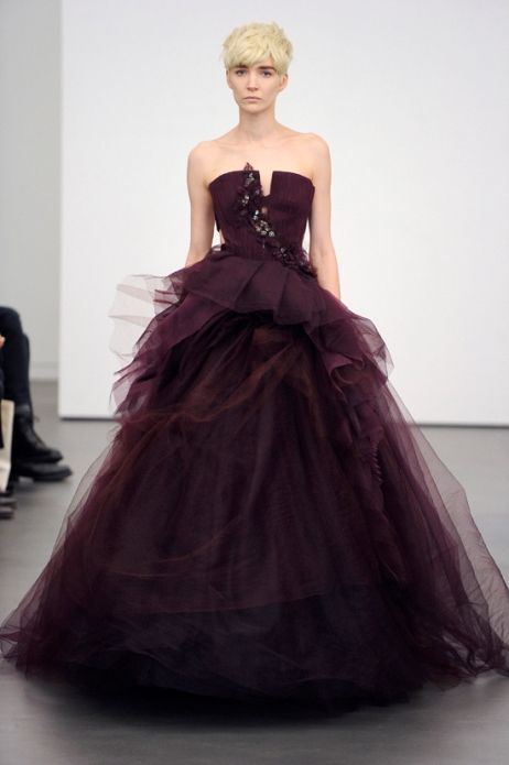 WOWWWWWW! I could do awesome makeup for this! Purple Wedding Dresses Vera Wang…