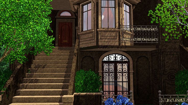 historic brownstones | Historic Brownstone Apartments Lot for The Sims 3 » AweSims