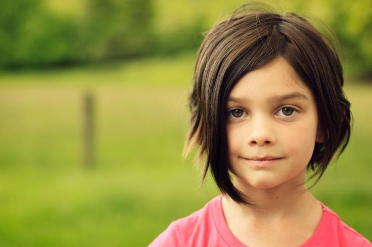 Angled Stacked Cut Little Girl Hair! Cute