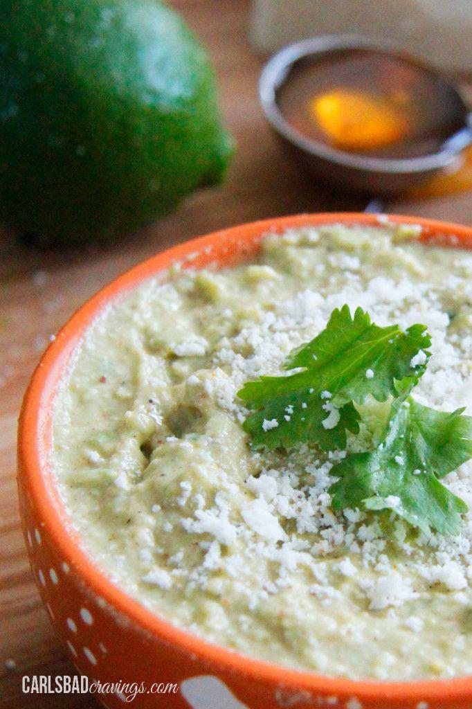 Cotija Honey Lime Avocado Dip/Spread   Recipe