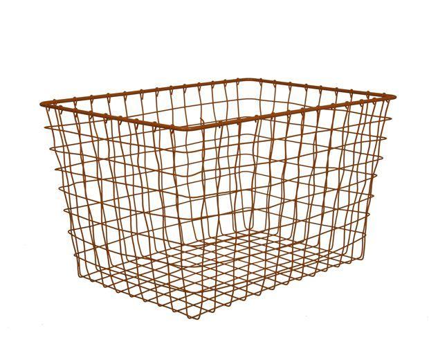 Koperen draadmand (Linea basket) - De Tafel Van 10 (online) woonwinkel
