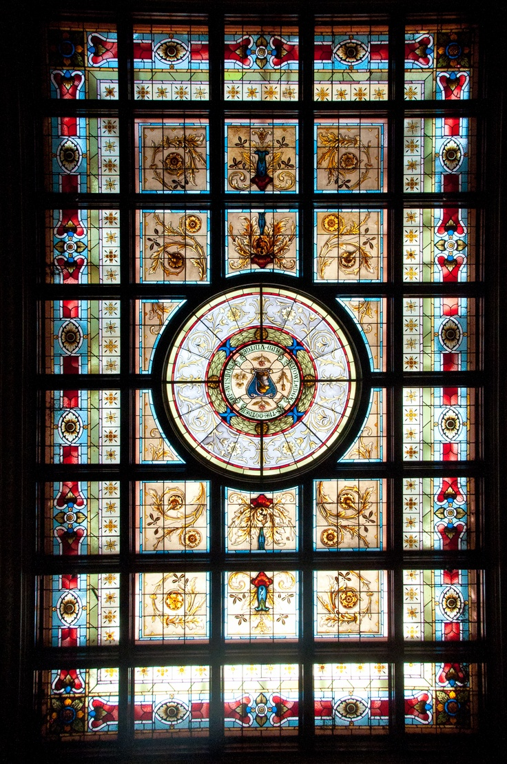 Sydney NSW Parliament Library Stained Glass