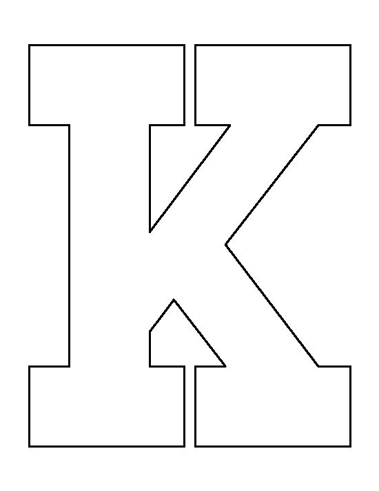 letter stencils printable letter k pattern use the printable outline for crafts 23480