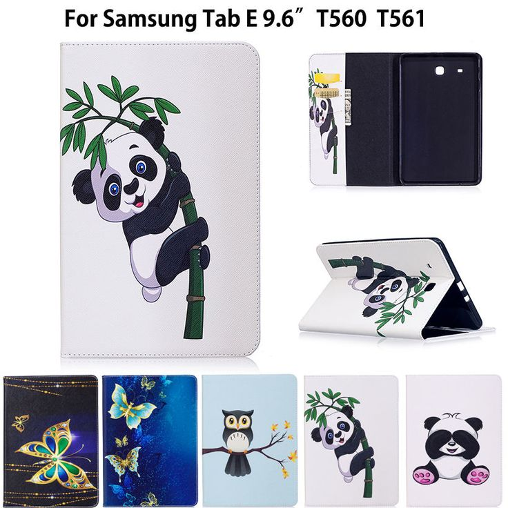 Cheap smart case, Buy Quality for samsung galaxy tab directly from China funda tablet Suppliers: SM-T560 Fashion Panda Owl Pattern Case For Samsung Galaxy Tab E T560 T561 SM-T561 Cover Smart Case Funda Tablet PU Stand Case