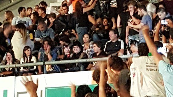 Charly Garcia in audience Buenos Aires show-1 La Plata 07-Feb-2016 Rolling Stones live updates