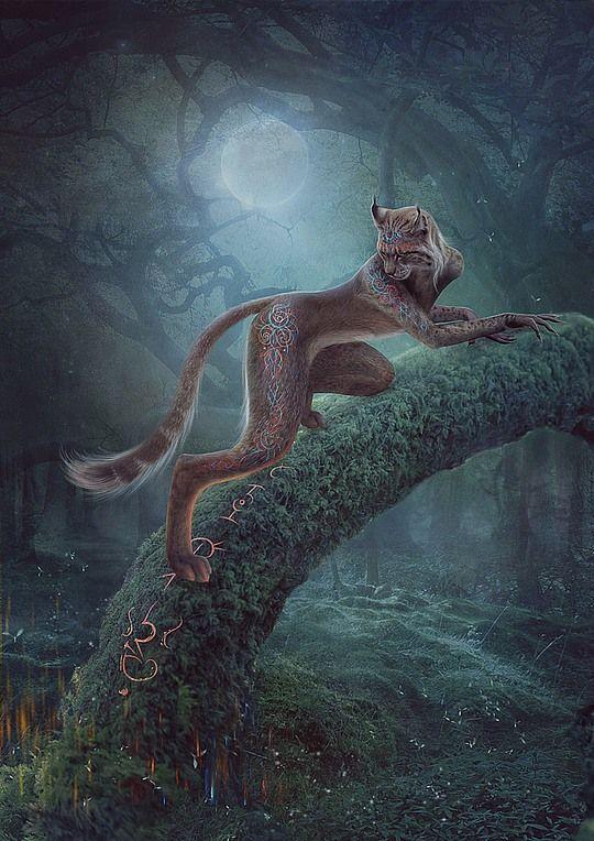 Totemic Animal by Vasylina Holodilina #Fantasy #Mythical #Creatures