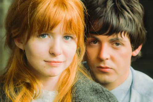 Jane Asher and Paul McCartney photographed on the London set of Help! by Henry Grossman, Spring 1965.