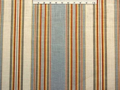 Waverly stripe ensemble robins egg decorative fabric for Boys curtain material