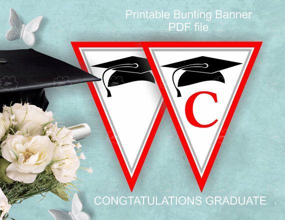 congratulations graduate / printable banner / by ArigigiPixel