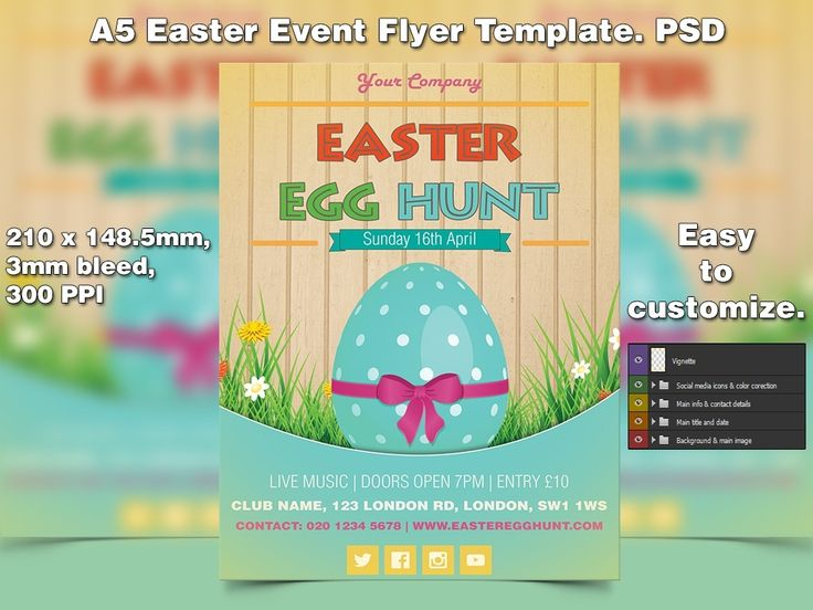 Best Easter Flyer Template Ideas PsdS Images On