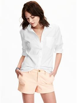 Women's Classic Oxford Shirt   Old Navy