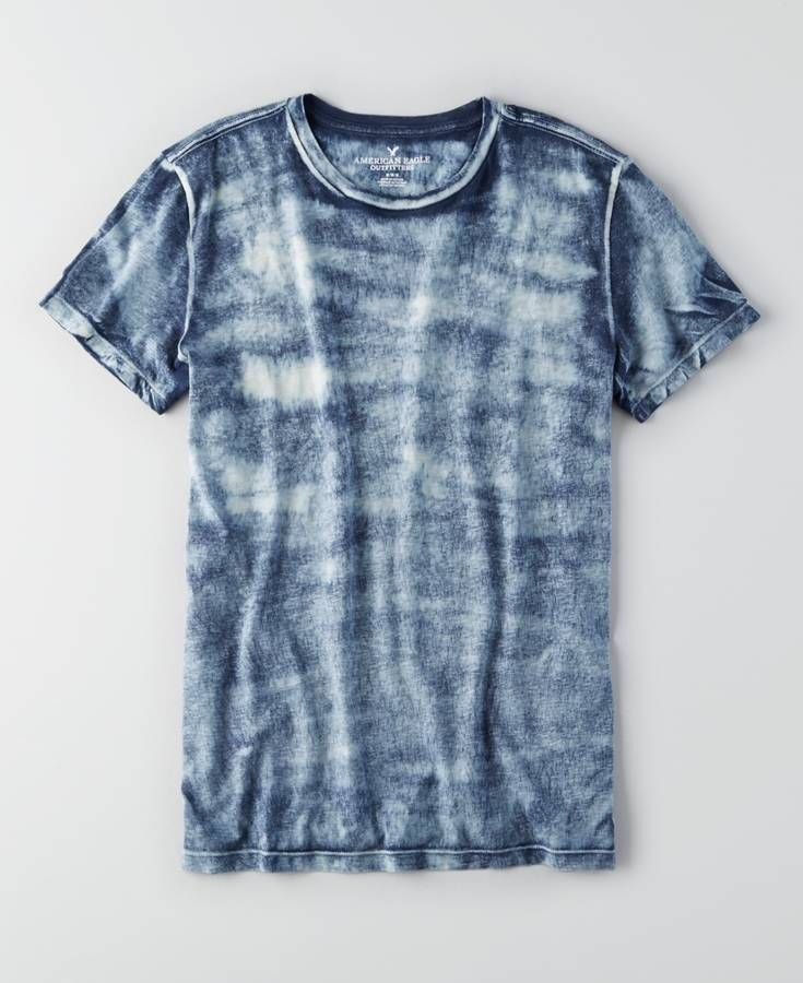 AEO Bleach Wash T-Shirt, Men's, Twilight Blue