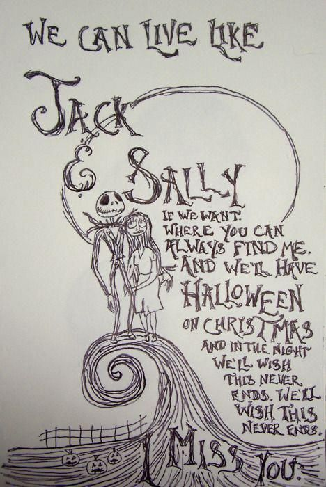 wow I'm so dumb, how have I never put 2 and 2 together with this song- jack & sally, nightmare before Xmas.. blink-182