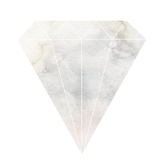 Water Colour Diamond Print on Etsy, $22.60