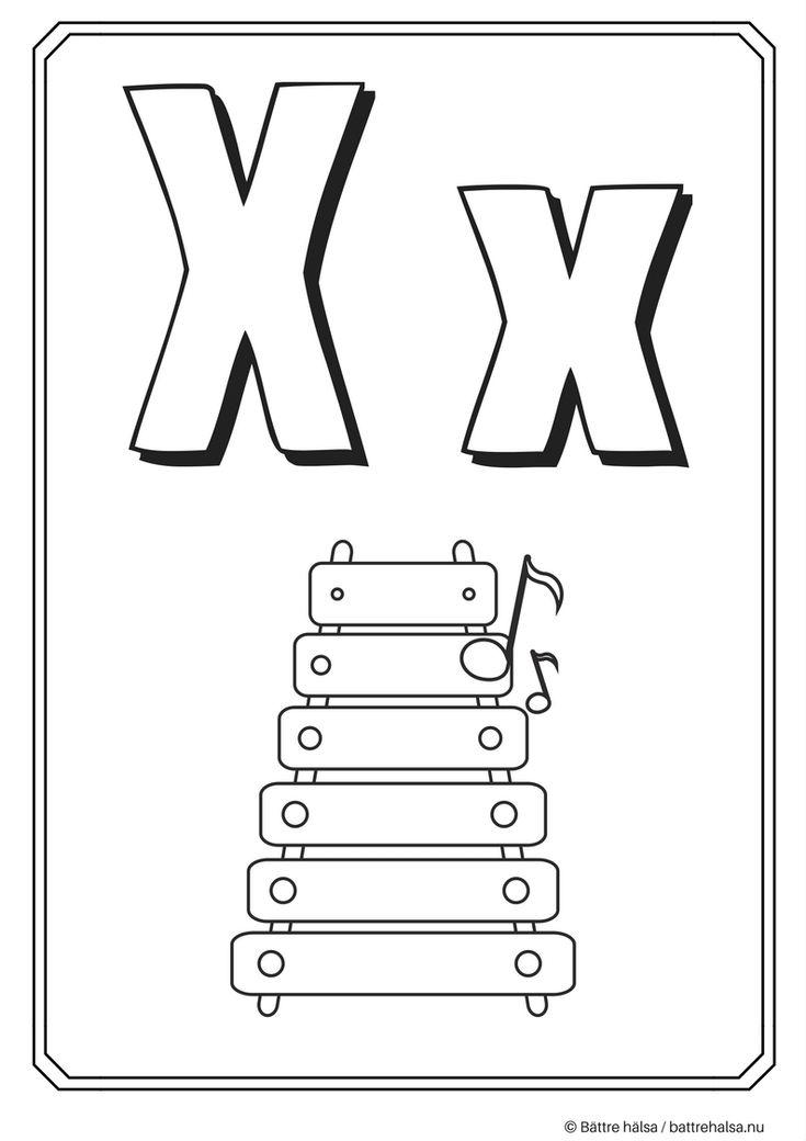 aktiviteter för barn, barnaktiviteter, pyssla och lek, knep och knåp, måla, färglägg, målarbild, alfabetet, bokstaven X