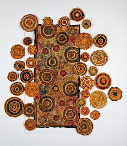 Carol Waugh's Breaking Out fiber art with Bottom Line threads