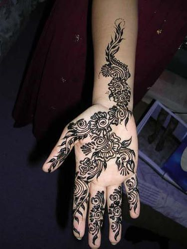 Black Henna/Mehndi Designs