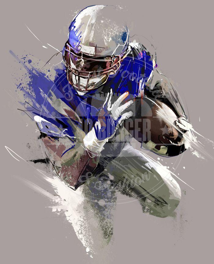 40B Streetart Runningback by 40 Burger // Finest Football & Fashion. #americanfootball #football #40b #nfl #rannfl #t-shirt #tshirt #hoodie #sweater #runningback #quarterback #art #streetwear #fashion