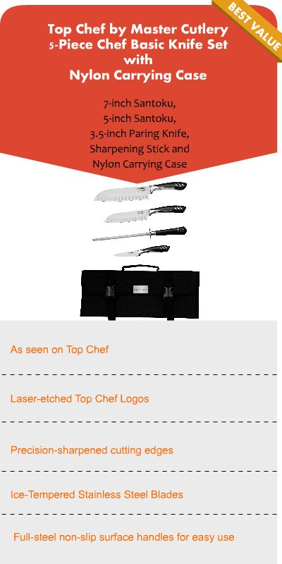 professional chef knife set with bag