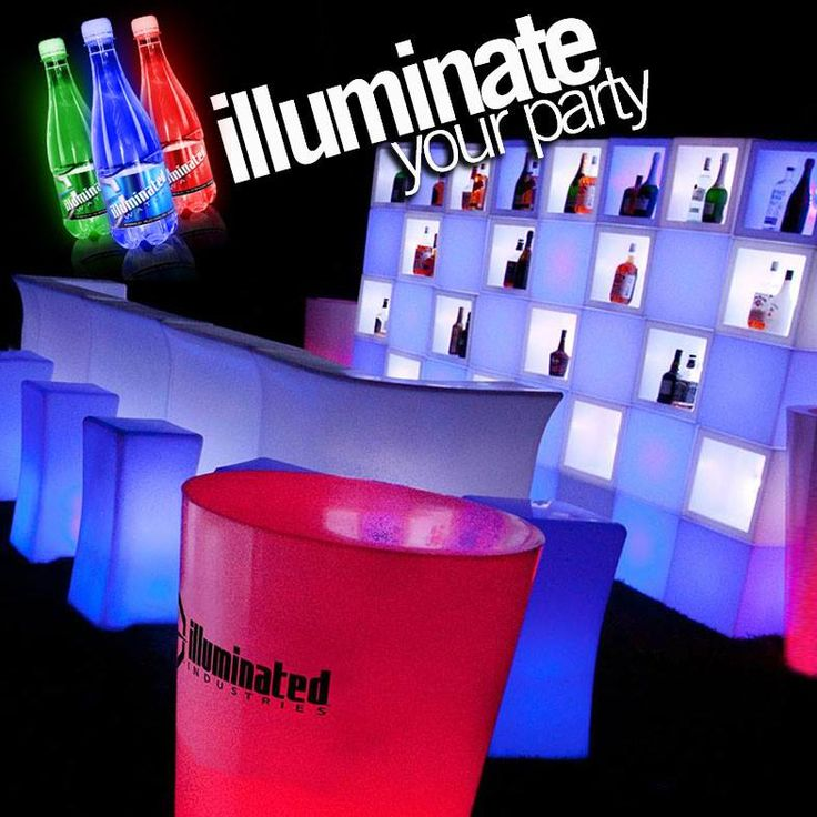 Hire Illuminated Furniture for events & parties! Change the colours to suit you, can also strobe and fade! Australian Locations: Brisbane, Sydney, Central NSW, Melbourne and Perth. #illuminatedfurniture #party #glow #glowparty