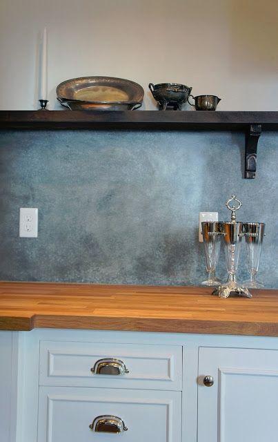 D I Y    Decorative Painting Finishes Zinc back splash amy howard's zinc solution