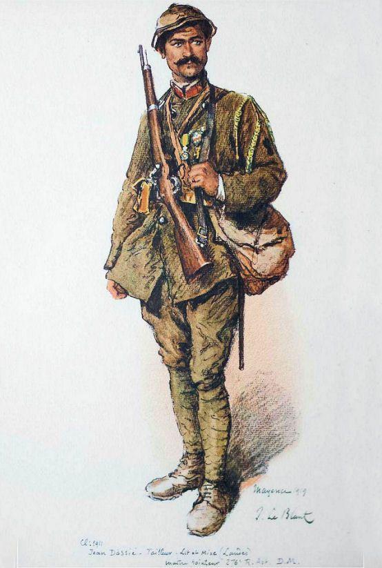 Julien Le Blant - Jean Dassié, 1919. Class 1911, tailor in Lit et Mixe…