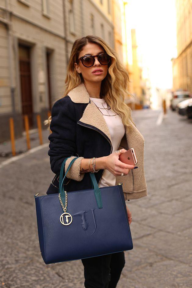 Chiara Nasti wearing TRUSSARDI Eyewear collection
