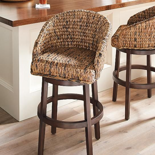 Milo Swivel Seagrass Stool Grandin Road Ellen S House