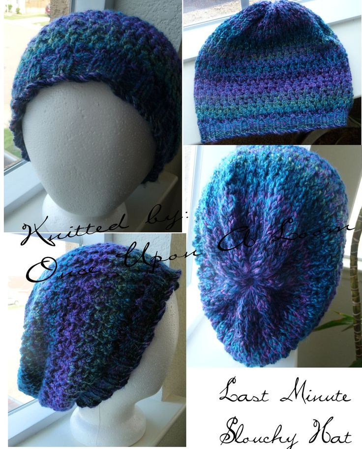 Free Knifty Knitting Loom Patterns   Once Upon A Loom: Last Minute Slouch Hat
