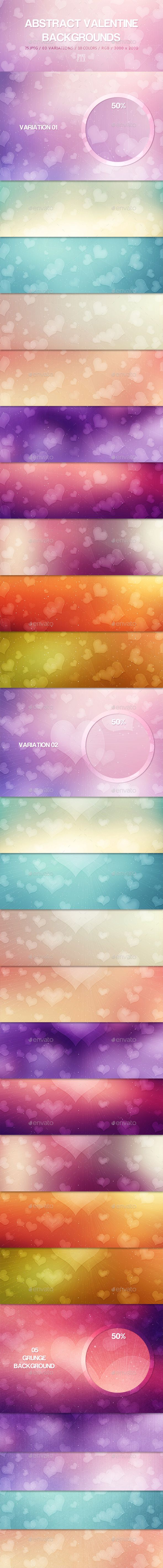 25 Abstract Valentine Backgrounds - Download…