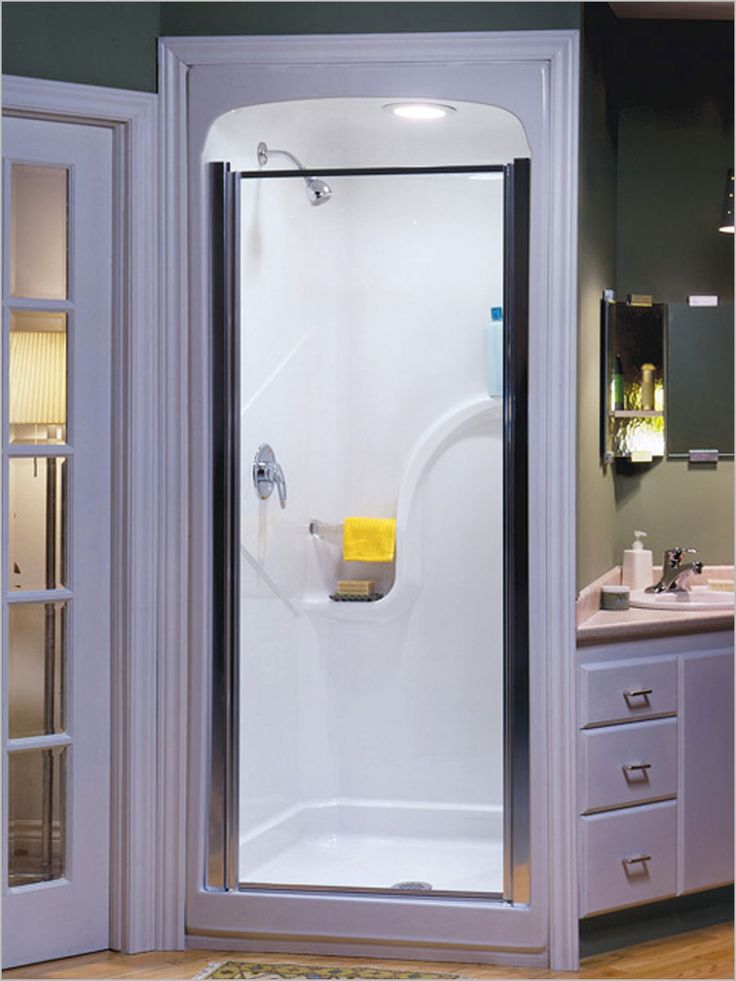 Best 25 corner shower stalls ideas on pinterest corner for Small 4 piece bathroom designs