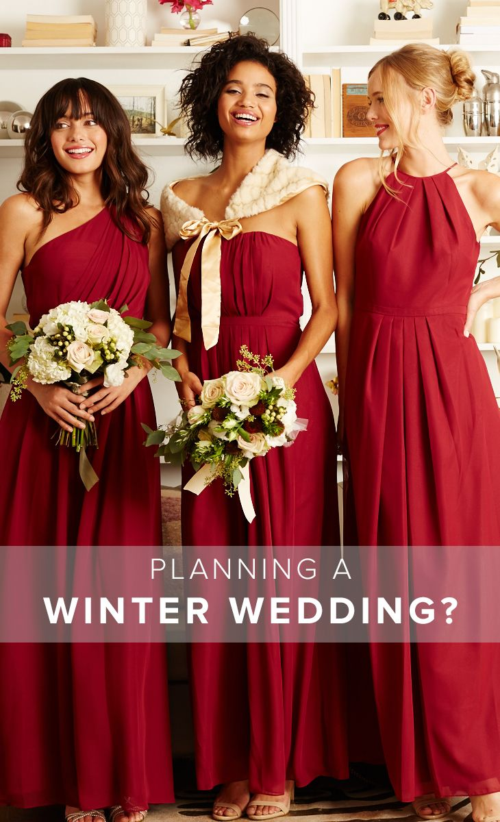 186 best winter weddings images on pinterest winter weddings weddington way has affordable styles for every season find the perfect winter wedding bridesmaid dresses ombrellifo Images